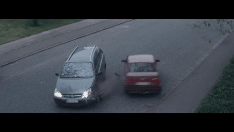 Bil stunt til Rådet for Sikker Trafik 2015
