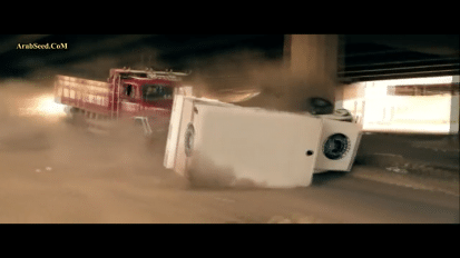 Stort lastbilstunt i Egypten 2015